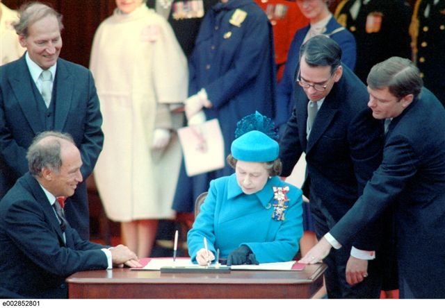 Canadian Constitution Act Signing 1982
