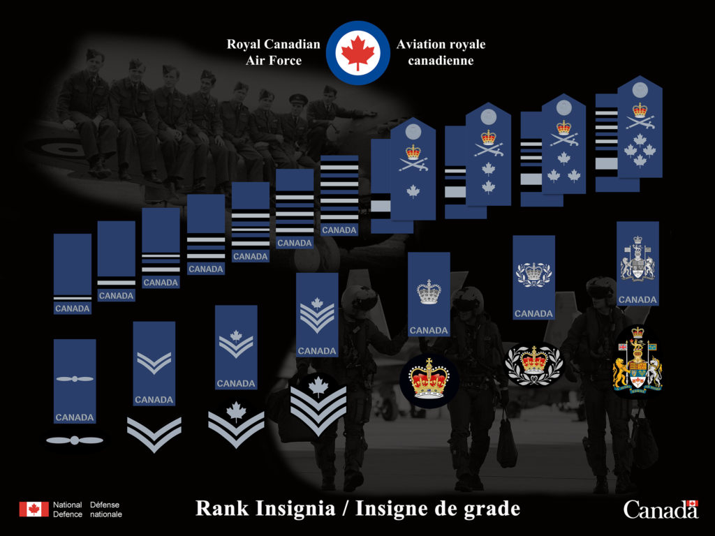 Royal Canadian Air Force Rank Badges